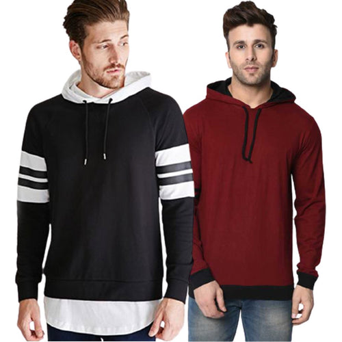 COMBO OF TWO COTTON HOODIES