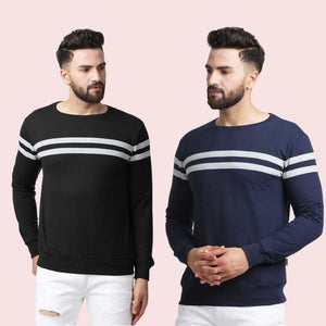 Set of Two Colourblocked Round Neck T-shirt