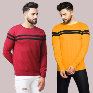 Combo of Two Colourblocked Round Neck T-shirt