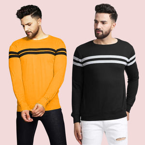Pack of 2 Colourblocked Round Neck T-shirt