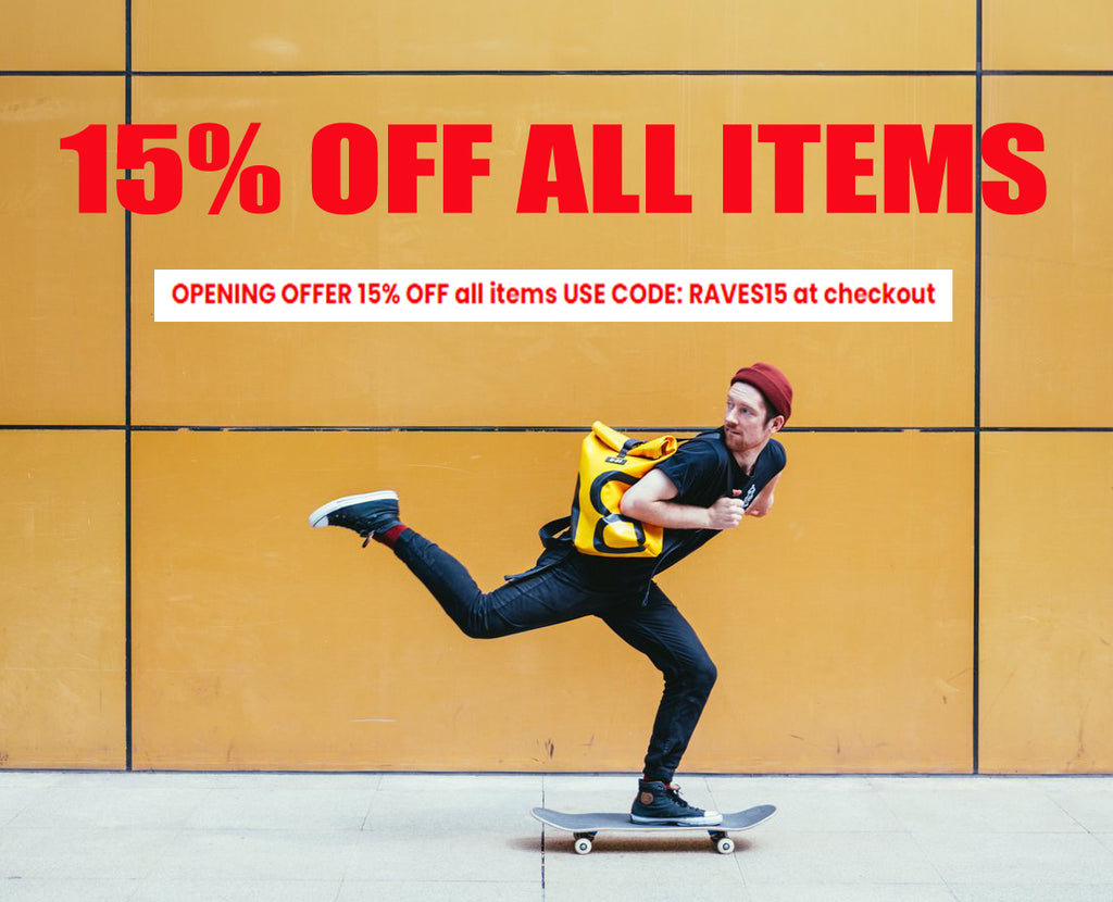 OPENING OFFER - 15% OFF ALL ITEMS