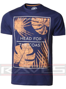 Mens T-Shirt by South Shore Short Sleeved Print T-shirt Tee Top COAST S-XXL