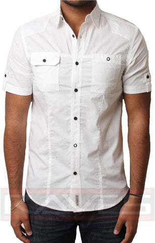 Mens Shirt Dissident 1H7543 Casual Short Sleeve Cotton S, M, L & XL