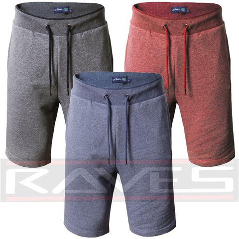 Mens Le Shark Shorts Sweat Gym Fashion Jogging Bottom Fleece Short Fleck ANCHOR