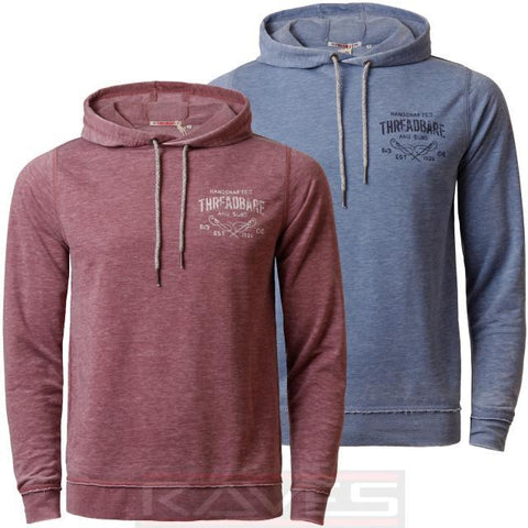 Mens Hoodie Threadbare Hooded Jumper Sweatshirt Pullover Burn Out Marl Top Hoody