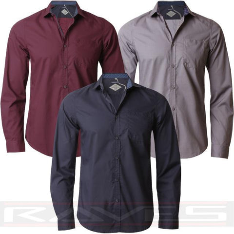 Mens Shirt Long Sleeve Designer Casual Stylish Fashion Party Threadbare 033