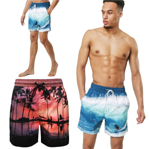 Mens Floral Summer Beach Mesh Lined Swimwear Shorts Trunks Paignton and Poole