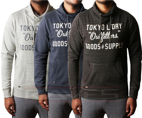 Men Tokyo Laundry Cowl Neck Sweatshirt Jumper Pullover Fleece Woodstock Cove