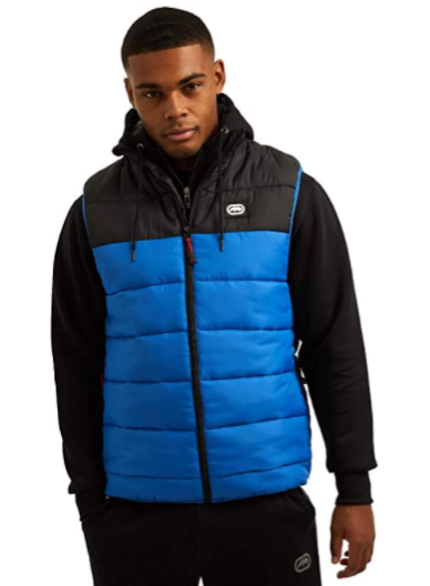Mens Ecko Unltd Sports Padded Puffer Gilet Jacket,Body Warmer 2tone S-M-L-XL-XXL