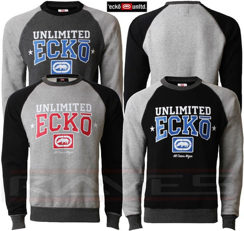 Mens ECKO Fleece CARGO Graphic Sweatshirt Casual Sports Track Top