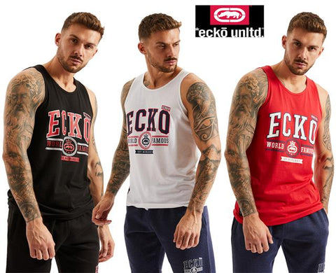 Ecko Unltd Vest Mens Sleeveless Sport Basketball Top Graphic Print DODGE