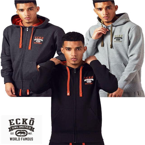 Mens ECKO UNLTD Fleece Graphic Sweatshirt Casual Sport Tracktop Hoody PIRELLI