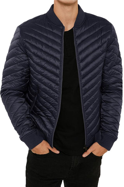 Mens Padded Bubble Puffer Quilted Jacket Coat Warm Winter Fashion POWER