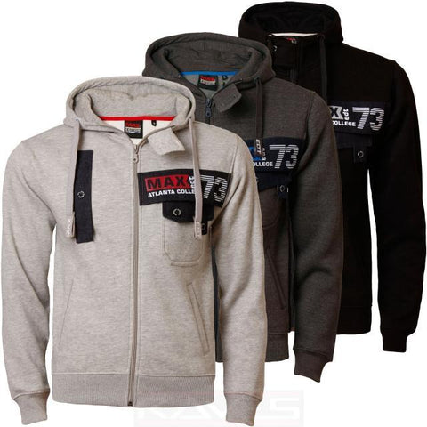 Mens Hoodie Max Edition MSW51 NEW Hooded Fleece Full Zip Sweatshirt Top Jacket