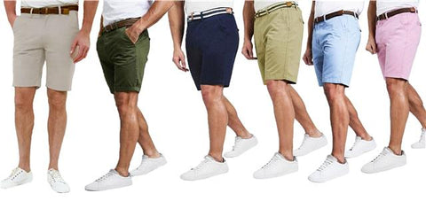 Mens Chino Shorts Threadbare Casual Designer Cotton Knee Length Shorts Belted