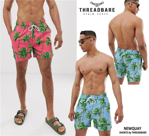 Mens Floral Summer Beach Swimming Mesh Lined Swimwear Shorts Trunks Newquay