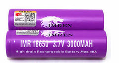 IMREN 40AMP 3000MAH 18650 Batteries