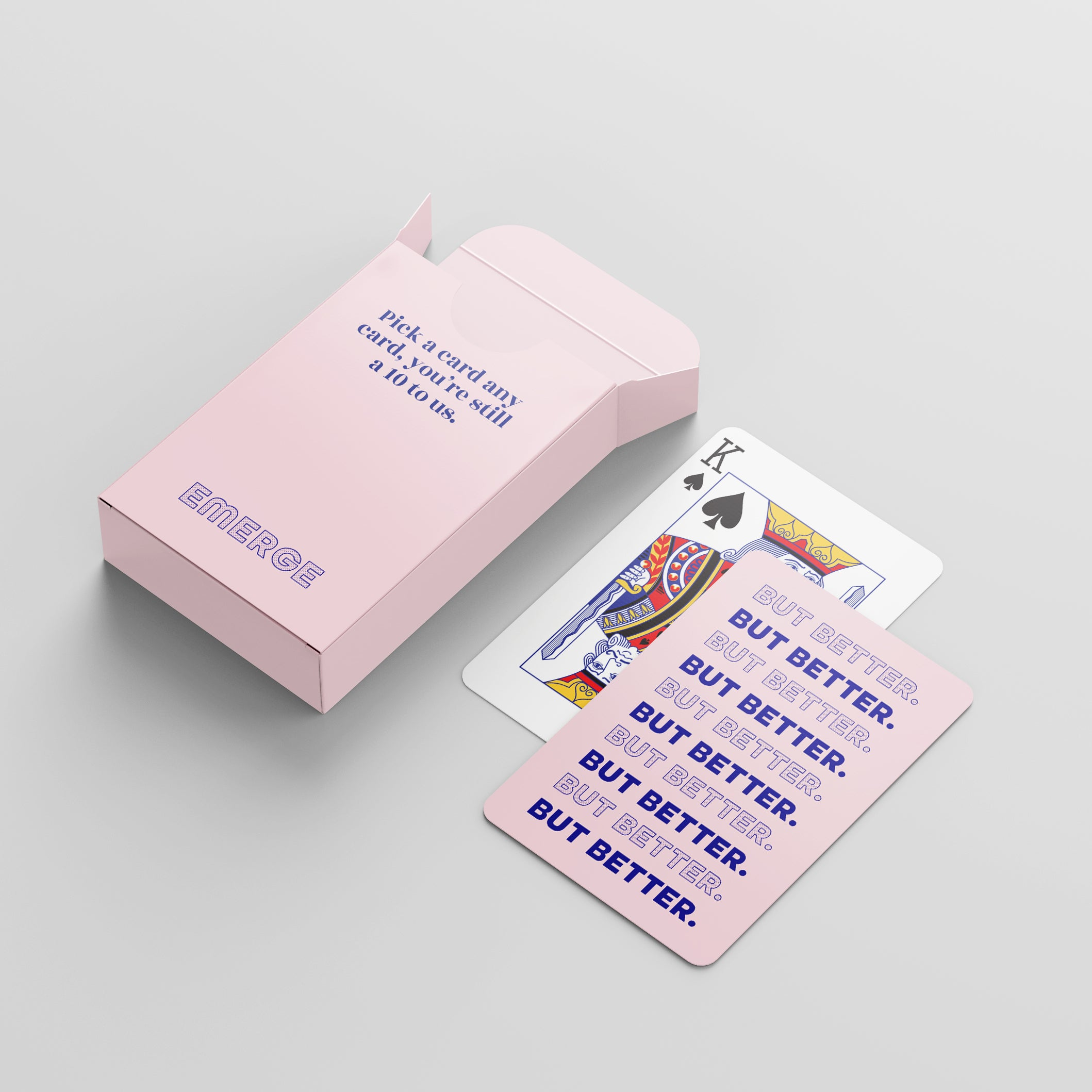 Playing Cards <span>Pick a card, any card, you're still a 10 to us. </span>