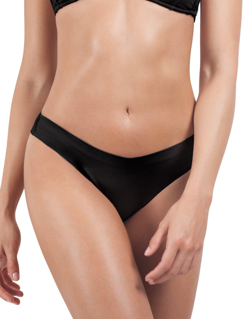 Panty Soil 3. Panty De Bikini Color Negro. Entreaguas
