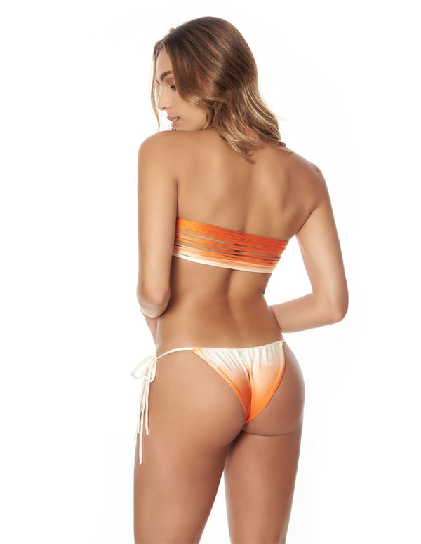 Conjunto Mountain Jungle Atardecer Naranja. Conjunto De Bikini Color Atardecer Naranja. Entreaguas