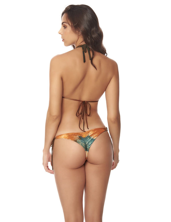 Conjunto Water & Star Dusk Fall Sky. Conjunto De Bikini Teñido A Mano Color Dusk Fall Sky. Entreaguas