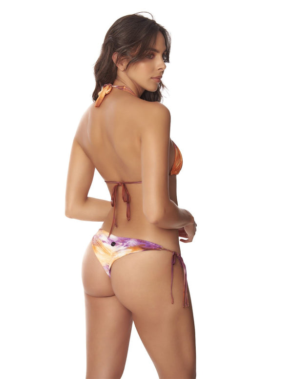 Conjunto Water & Star Morning Sky. Conjunto De Bikini Teñido A Mano Color Morning Sky. Entreaguas