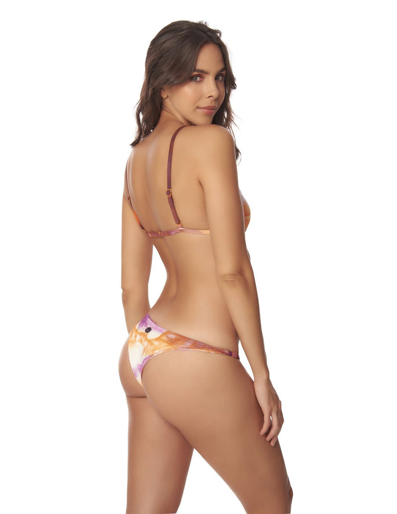 Conjunto Sun & Galaxy Morning Sky. Conjunto De Bikini Teñido A Mano Color Morning Sky. Entreaguas