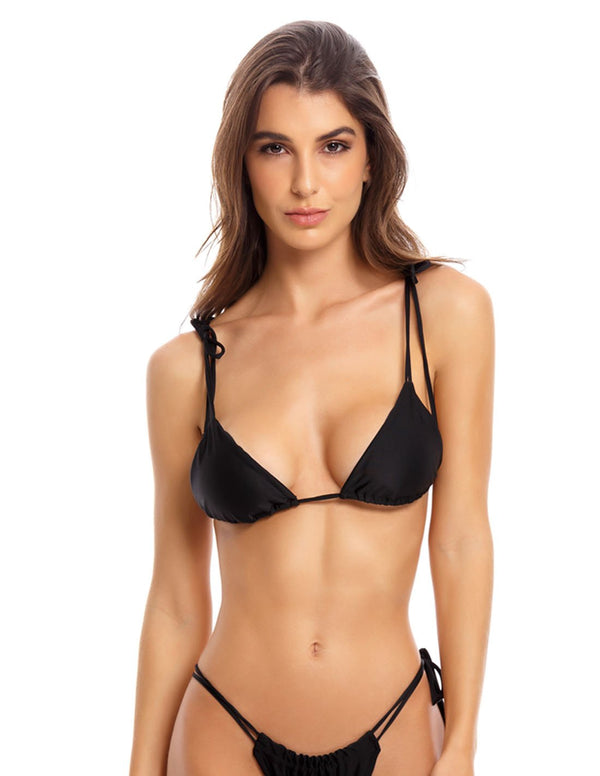 Top Traveller Negro. Bikini Top Color Negro. Entreaguas