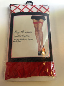 9014 Fence Net Thigh High O/S RED
