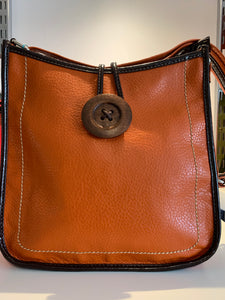BUTTON CROSSBODY BAG