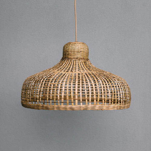 Photo-of-Coastal-lighting-style-Large-natural-bamboo-pendant-light-with-open-weave-large-size