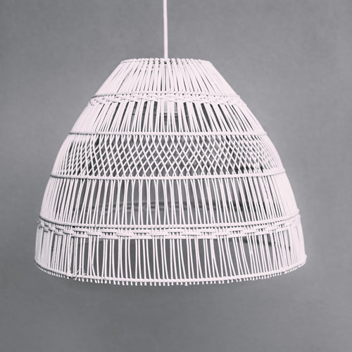 Coastal-style-lighting-white-rattan-pendant-light-with-straight-and-diamond-weave-design