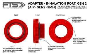 Inhalation Port Adapter (AIP-GEN2-3MH)