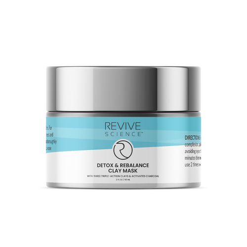 Revive Science Clay Mask with Activated Charcoal, Kaolin Clay, Pink Clay, and Organic Lecithin to Reduce Acne, Blackhead, Dirt and Oil