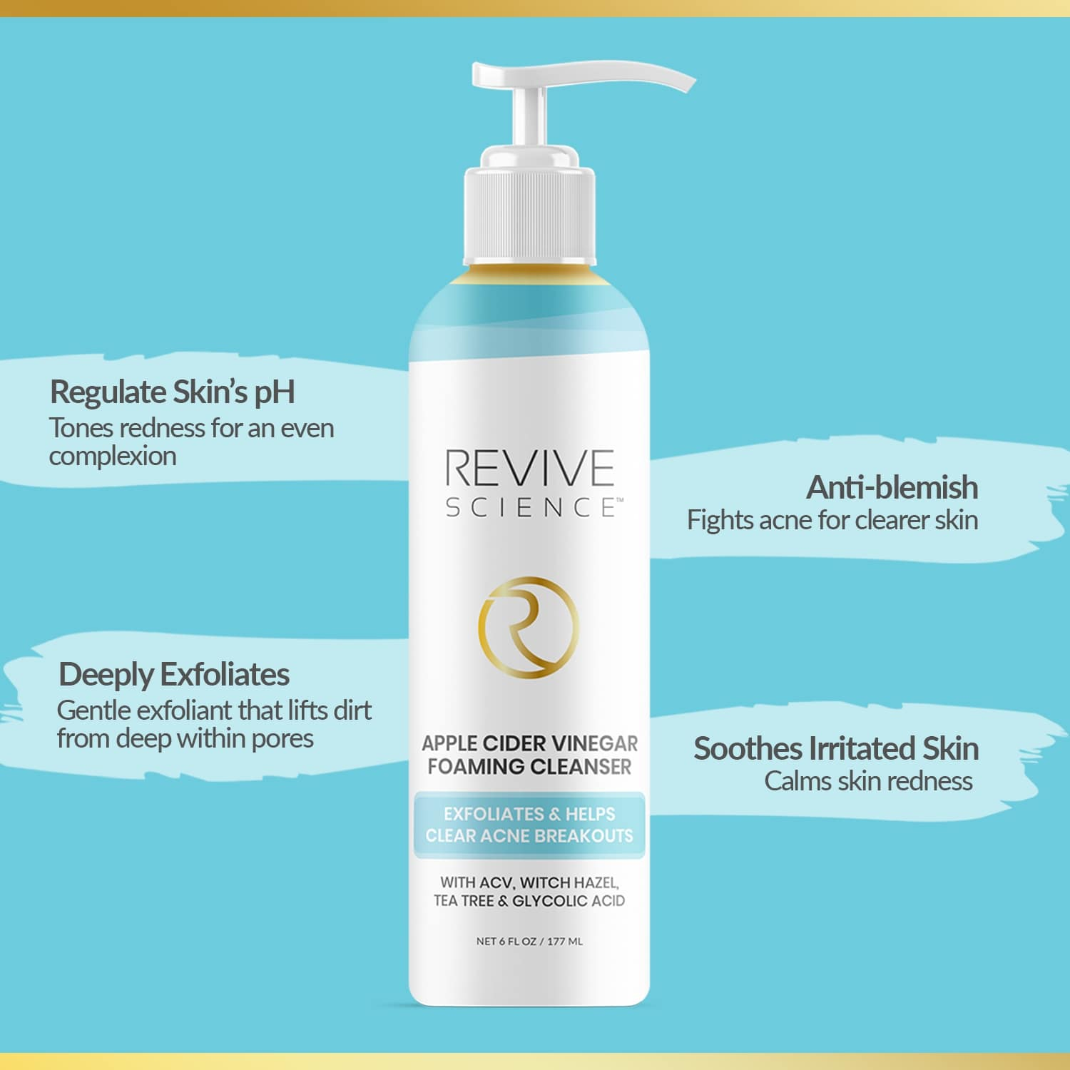 revive science apple cider vinegar face wash