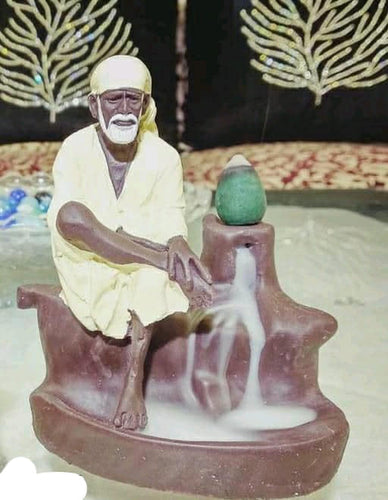 Shree Sai Baba Backflow Reverse Incense Burner Holder Incense Cone Holder (Fountain)