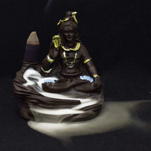 Shiv Ji Backflow Reverse Incense Burner Holder Incense Cone Holder (Fountain)