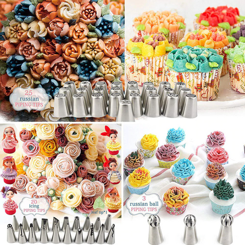 12 Piece Piping Bag Nozzles Cake Decorating Tool Set