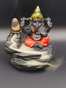 Shree Ganesha Backflow Reverse Incense Burner Holder Incense Cone Holder (Fountain)