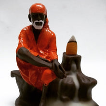 Load image into Gallery viewer, Shree Sai Baba Backflow Reverse Incense Burner Holder Incense Cone Holder (Fountain)