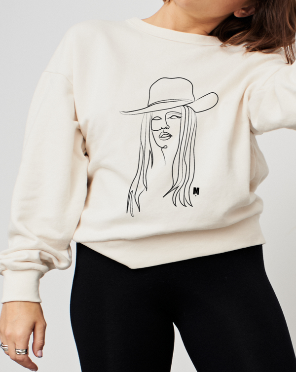 B.B SPUR CREW NECK SWEATER NATURAL