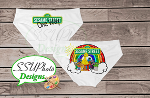 Sesame Street Women Bikini Underwear Digital File