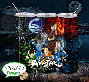 Avatar The Last Airbender 20 OZ Skinny TumblerD Digital Design