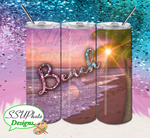 Sparkle Beach Collection 20 OZ Skinny TumblerD Digital Design