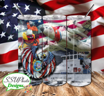 Military US Collection Digital Design 20 OZ Skinny Tumbler Design