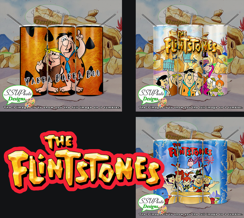 The Flintstones Collection 20 OZ Skinny TumblerD Digital Design
