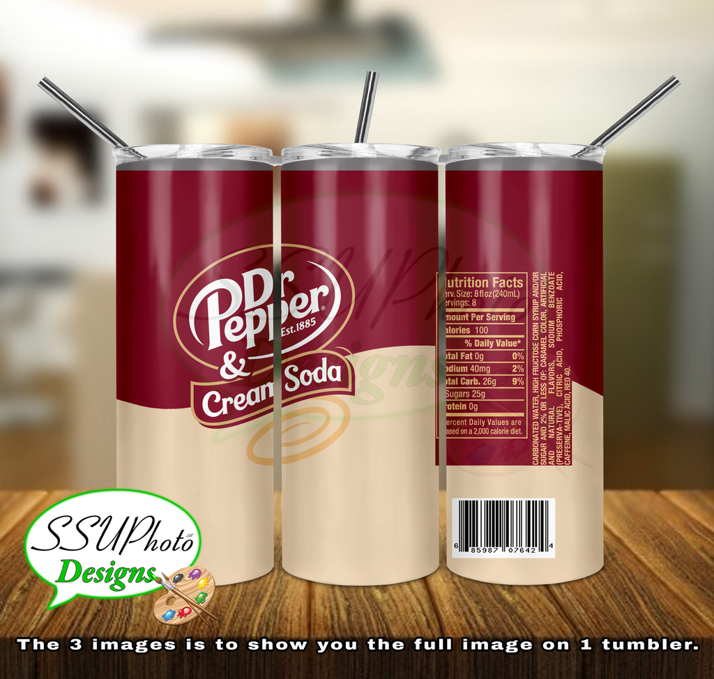 Dr. Pepper Cream Soda Tumbler