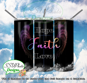 Faith Collection 20 OZ Skinny TumblerD Digital Design