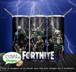 Fortnite Collection 20 OZ Skinny TumblerD Digital Design