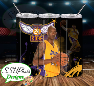 Kobe 20 OZ Skinny TumblerD Digital Design